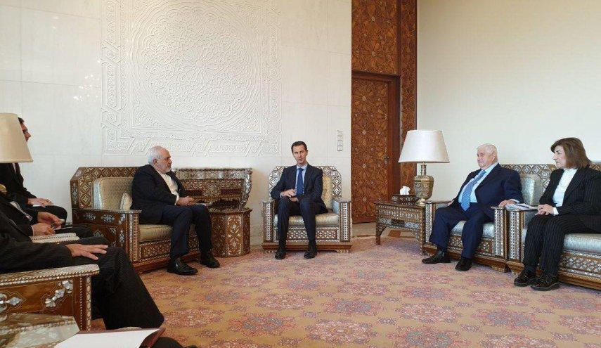 وزير الخارجية الايراني يلتقي الرئيس الاسد