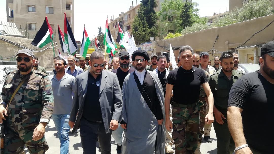 من مخيم اليرموك..لا لمؤتمر البحرين..لا لصفقة القرن..الجولان عربي سوري