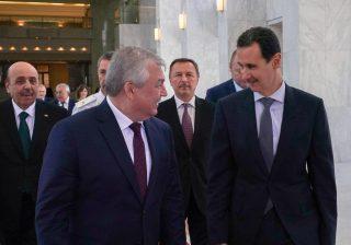 الرئيس الأسد يستقبل المبعوث الخاص للرئيس الروسي فلاديمير بوتين إلى سورية