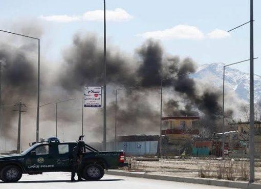 انفجار ضخم قرب السقارة الأمريكية في كابول
