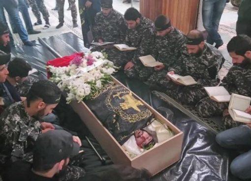 تشييع مهيب لشهيد الغارة الاسرائيلية بحركة الجهاد في دمشق